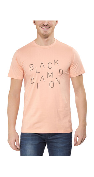 Black Diamond Scattered S/S Tee Men peach